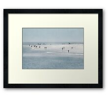 A Walk on the Beach Framed Print