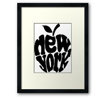 Big Apple New York, black Framed Print