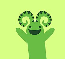Happy green monster by jazzydevil