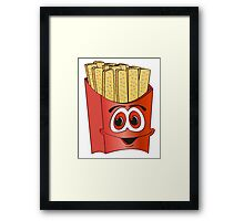 French Fry Cartoon Framed Print