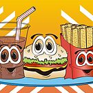 Fast Food Cartoon by Graphxpro