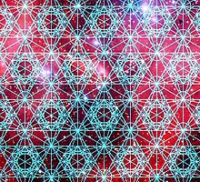 Spiderman Nebula [Happy Blue] | Sacred Geometry Patterns by SirDouglasFresh