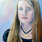 Portrait of a young girl  by Virginia McGowan