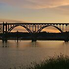 Yaquina Bay Bridge at Sunrise by Randy Richards