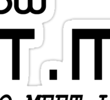 I KNOW HTML, HOW TO MEET LADIES Sticker