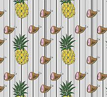 Ham & Pineapple Pinstripe by blouprint