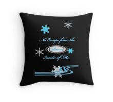 No Escape From the Storm Inside of Me Throw Pillow
