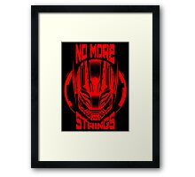 No More Strings Framed Print