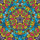 Psychedelic jungle kaleidoscope ornament 31 by Andrei Verner