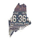 Vintage Maine License Plates by Maren Misner
