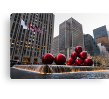 A Christmas Card from New York City - Fifth Avenue Sophistication Canvas Print