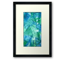 Set Free Green Abstract Painting Framed Print