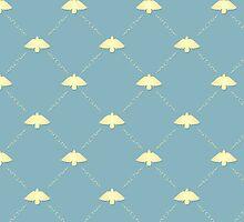 Vintage bird pattern by Richard Laschon