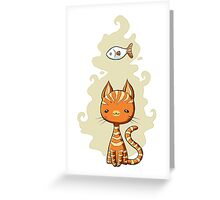 Ginger Cat Greeting Card