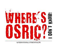 Where's Osric? Photographic Print