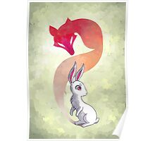 Rabbit and a Fox Poster