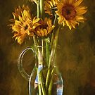 Sunflowers and Vase by John Rivera