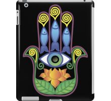 Hamsa with lotos iPad Case/Skin