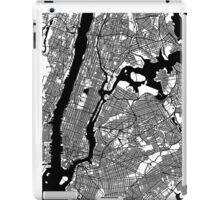 New York City Black and White Map - NYC iPad Case/Skin