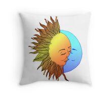 Moon and sun Throw Pillow