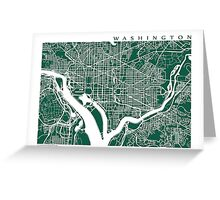 Washington DC Map Art  Greeting Card