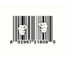 Captured By Consumerism UPC Barcode Prison Art Print