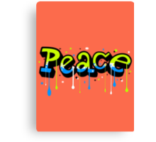 Peace Graffiti Canvas Print