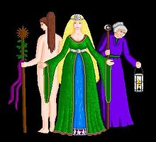 Triple Goddess by violetwinter
