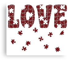 The Puzzle Of Love Canvas Print