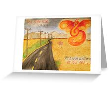 The Road to Ruin Greeting Card