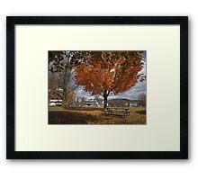 Autumn Picnic Framed Print