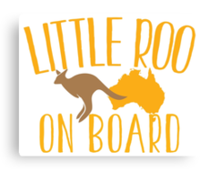 Little roo on Board (Australian pregnancy meternity design) Canvas Print