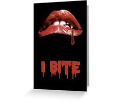 "Rocky Horror Style ""I Bite"" Vampire Mouth Greeting Card"