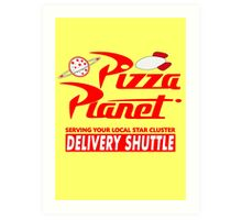 Pizza Planet Art Print
