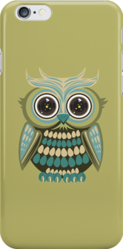 Star Eye Owl - Green by Adamzworld