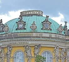 Dome, San Souci, Potsdam, Germany by Margaret  Hyde