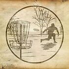 disc golfer by Paul Simms
