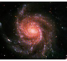 Pinwheel Galaxy [Red Version] | Sacred Geometry Pattern by SirDouglasFresh