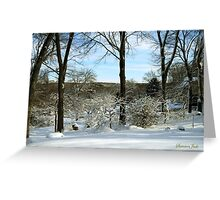 A Walk ~ On a Winter's Day Greeting Card
