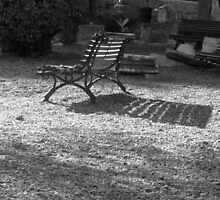 Parkbench Shadow by pcavins