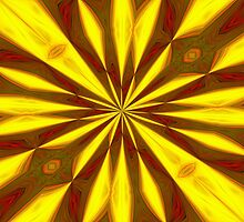 Bold Red, Green and Gold Repeating Starburst by taiche