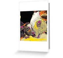 cows together 14 Greeting Card
