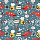 pattern of funny kittens  by Tanor