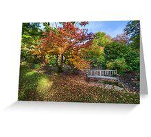 Autumn Bench Greeting Card