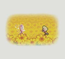 Sunflower Field - Lucas and Hinawa by TehConfuZzled