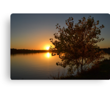 Fall Tree Sunset Reflection Canvas Print