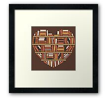 I Heart Books Framed Print
