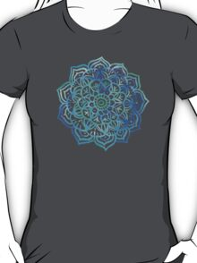 Watercolor Medallion in Ocean Colors T-Shirt