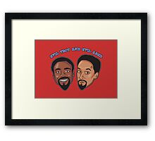 Evil Troy and Evil Abed Framed Print