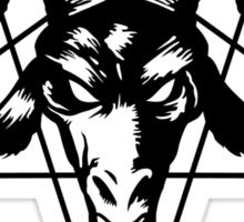 Satanic Goat Head with Pentagram 2 (black) Sticker